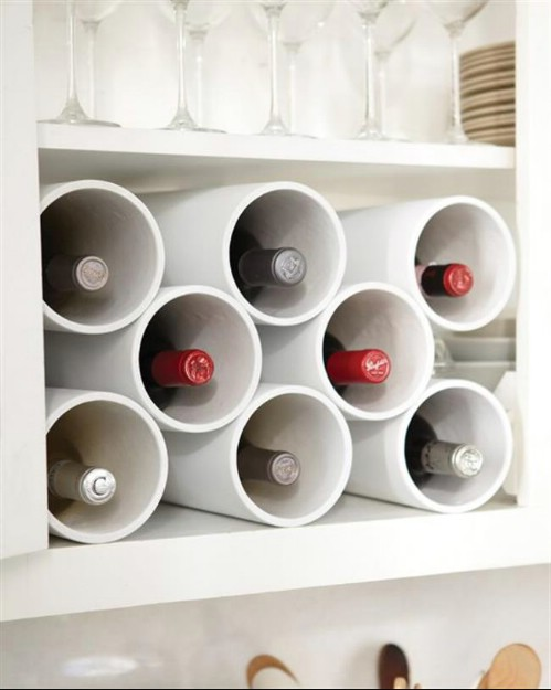Wine rack pvc pipe idea #diy #pvcpipes #homedecor #decoratingideas #pvc #decorhomeideas