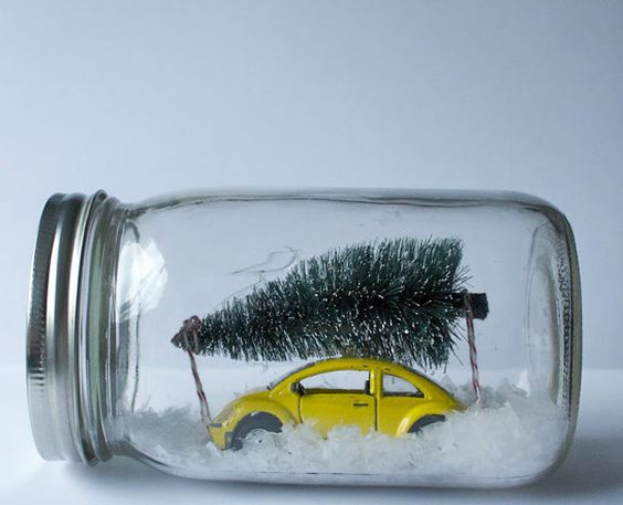 winter scene mason jar idea
