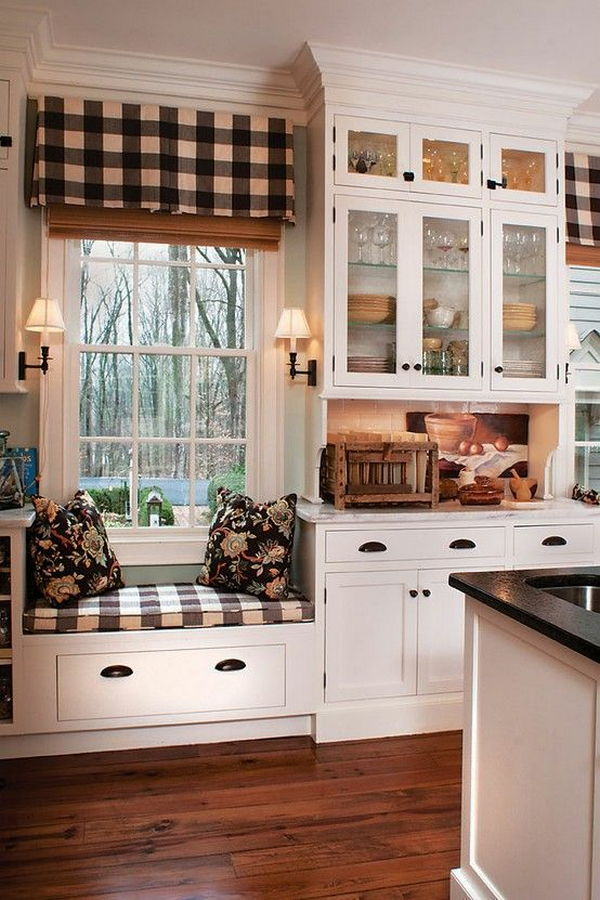 wood floor white country kitchen idea