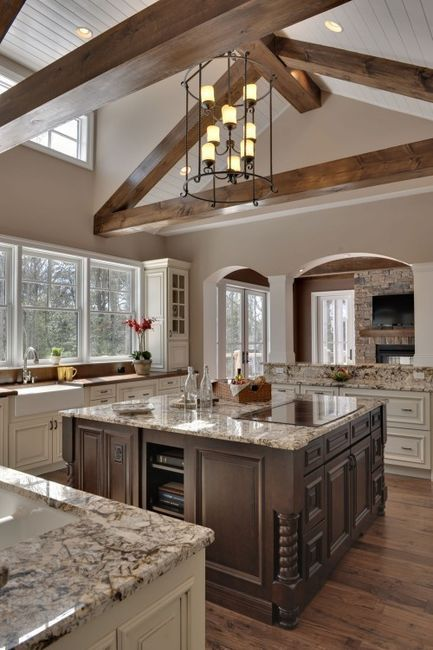 Wooden floor huge kitchen design idea #kitchen #kitchendesign #floor #wooden #decoratingideas #homedecor #interiordecorating #decorhomeideas
