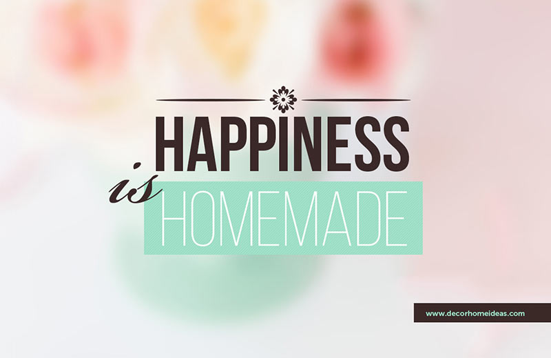 Happiness is homemade quote #homedecor #quotes #homequotes #signs #sayings #decoratingideas #decorhomeideas