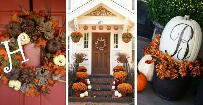 15 lovely fall front porch decorating ideas