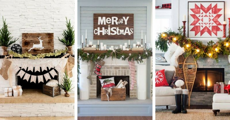 15 ways to add christmas cheer to your mantel