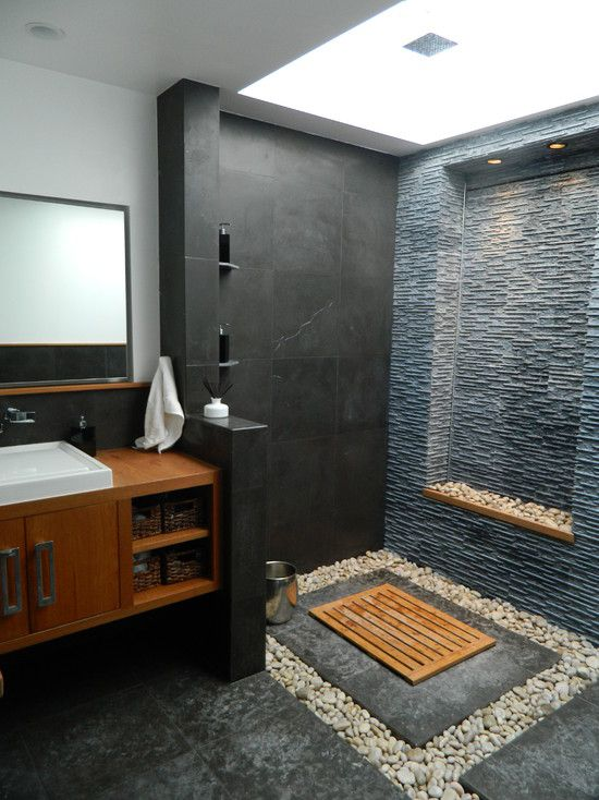 create warm feeling with wood tiles spa style bathroom idea #spadecor #bathroom #homespa #spahome #relaxhome #spa #homedecor #decoratingideas #spadesign #decorhomeideas
