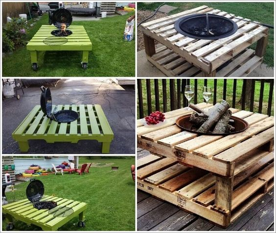Diy pallet fire pit low cost idea #firepit #exterior #patio #decoratingideas #cozy #decor #garden #backyard #fire #design #decorhomeideas