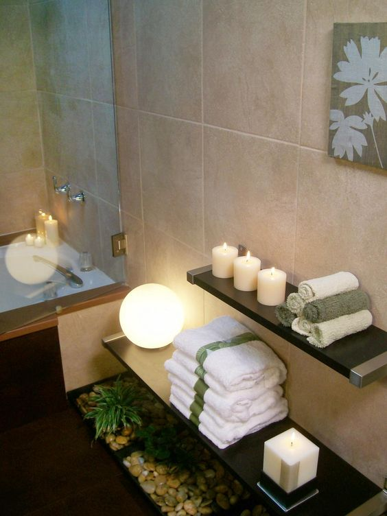 easy bathroom spa feeling idea
