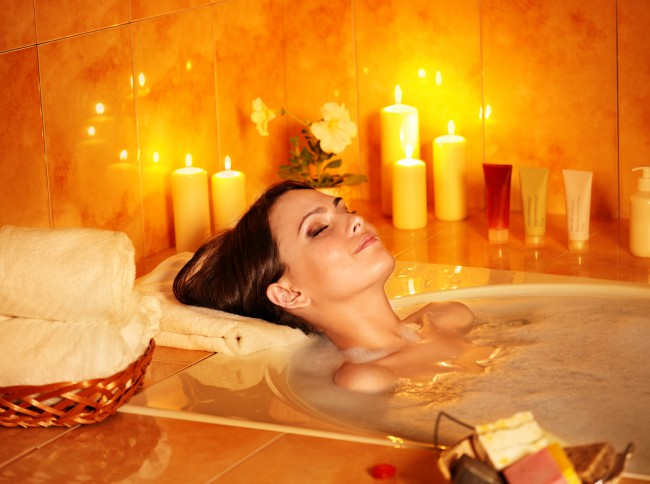 listen to calm music for your spa bathroom relaxation