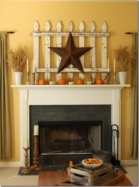 Miniature pumpkins neutral candles Autumn mantel decoration idea #falldecor #mantel #manteldecor #homedecor #decoratingideas #decorhomeideas