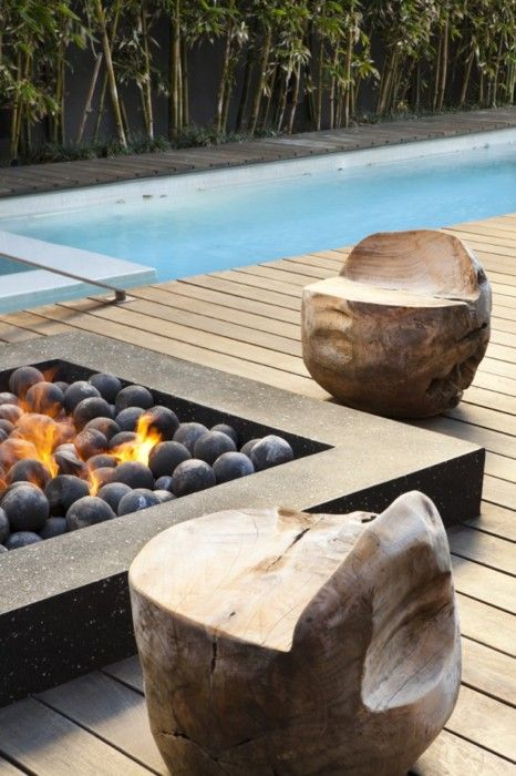 Stones fire pit design idea #firepit #exterior #patio #decoratingideas #cozy #decor #garden #backyard #fire #design #decorhomeideas