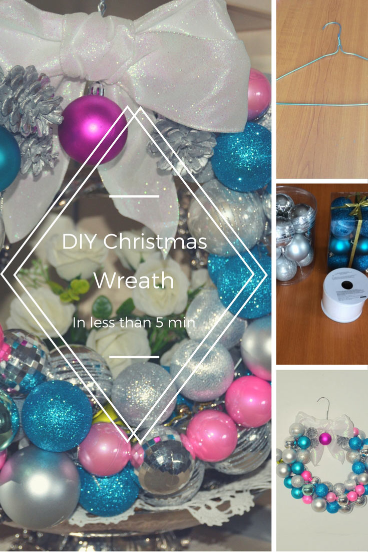 Diy christmas wreath in less then 5 minutes