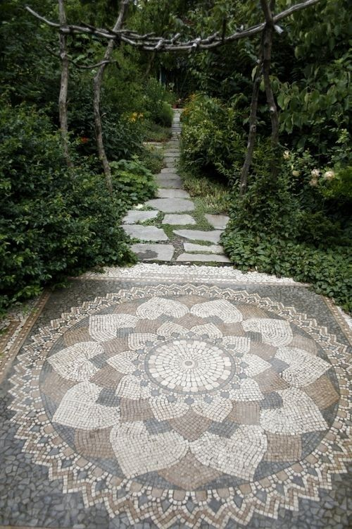 bohemian stone carpet garden idea