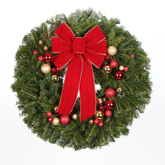 real Christmas tree wreath idea #diy #xmas #x-mas #christmas #wreath #christmasdecor #decoration #decoratingideas #festive #decorhomeideas