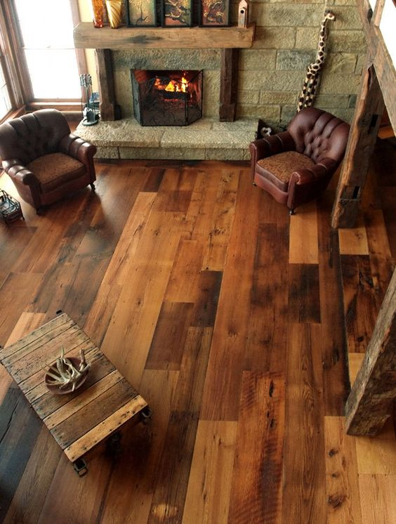 Rustic wood floor decor idea #rustic #rusticdecor #rusticfarmhouse #homedecor #decoratingideas #decorhomeideas