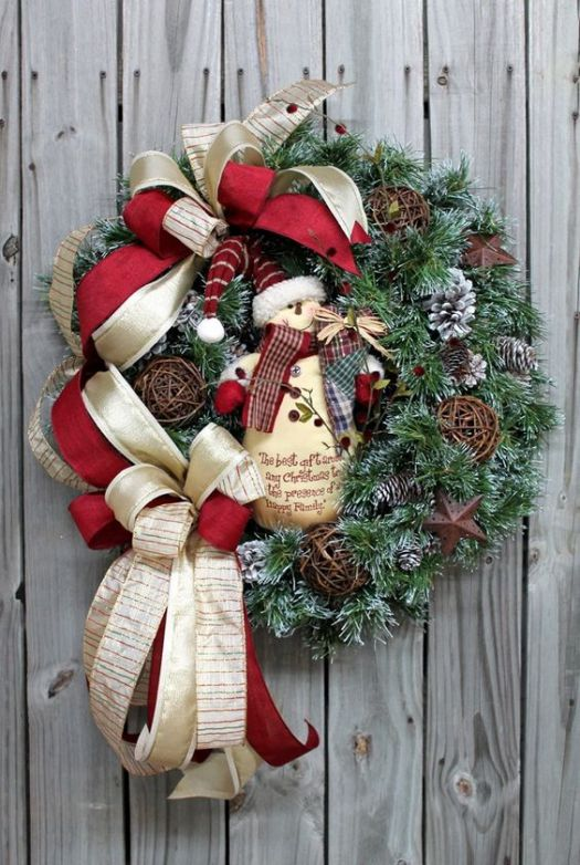 Snowman Christmas wreath decoration #diy #xmas #x-mas #christmas #wreath #christmasdecor #decoration #decoratingideas #festive #decorhomeideas