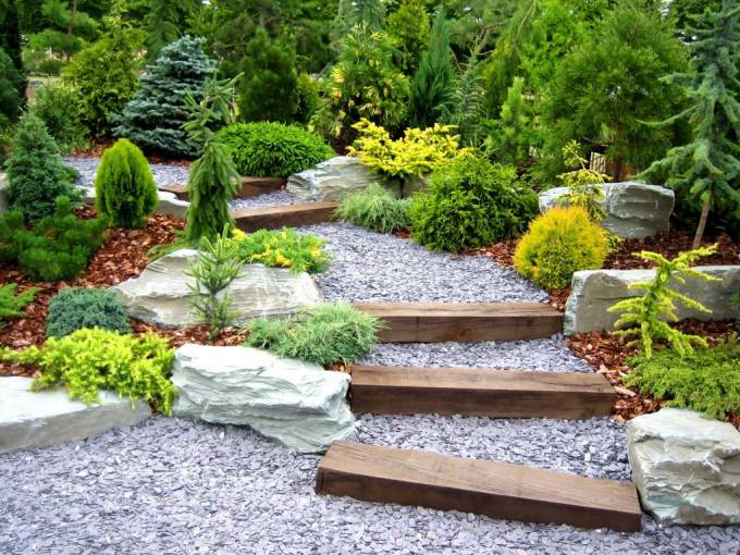 stone decoration garden pathway