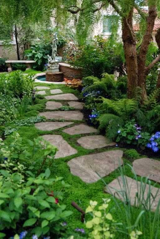 stones garden pathway decoration idea