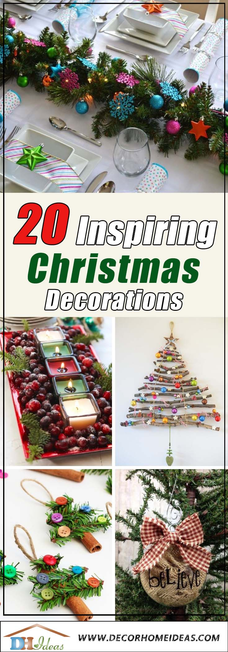 20 Lovely Christmas Decoration Ideas To Inspire You | Make your Christmas decoration the best with all these tips and ideas #xmas #x-mas #christmas #christmasdecor #decoration #decoratingideas #festive #decorhomeideas