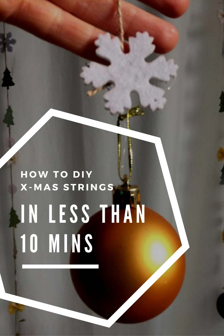 How to DIY Christmas strings in less than 10 minutes