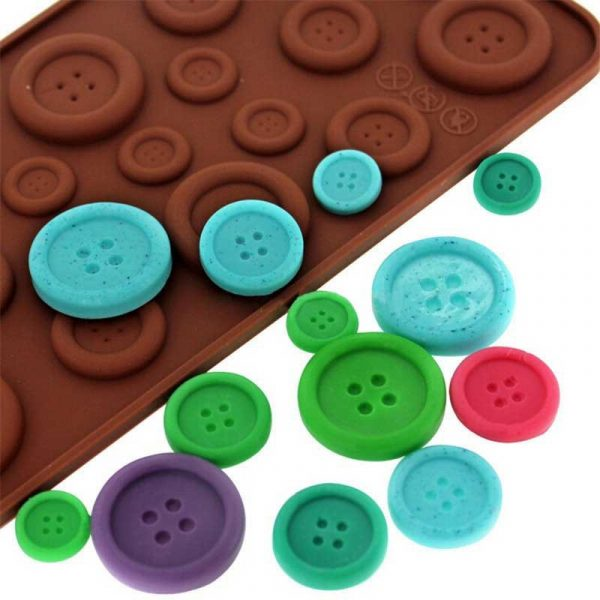 bornisking button shape silicone mold jelly soap chocolate mould diy baking cake decorating tools kitchen accessories bakeware