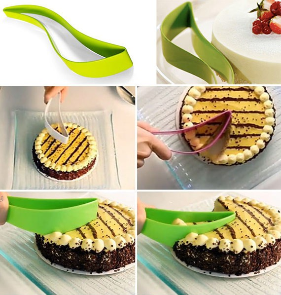 cake pie slicer sheet guide cutter server bread slice knife kitchen gadget