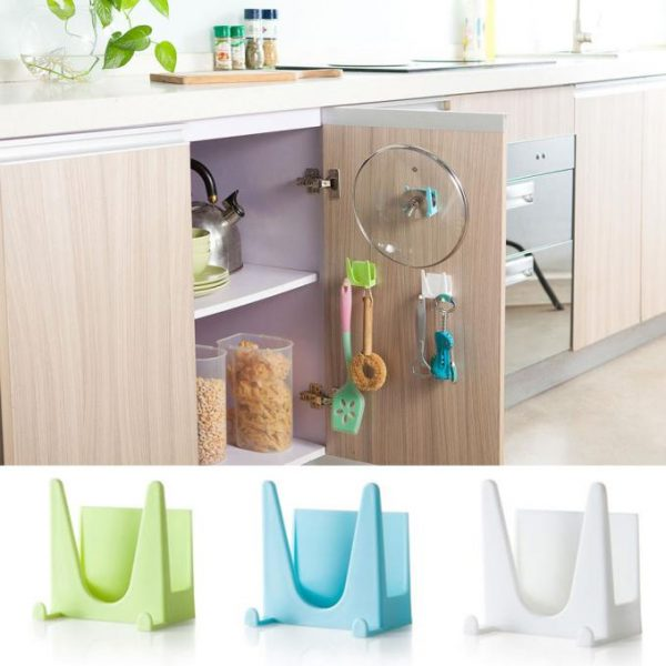 cooking tool hot plastic kitchen accessories pot pan cover shell cover sucker tool bracket atorage holder rack