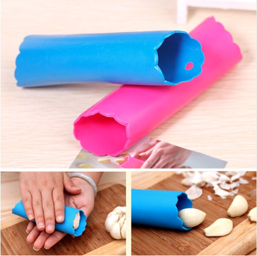 kitchen magic gadget silicone garlic peeler kitchen cuisine accessory