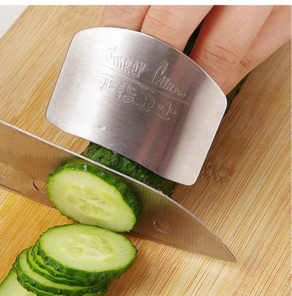 kitchen must have gadget stainless steel finger protector guard safe slice kitchen accessories cooking tools