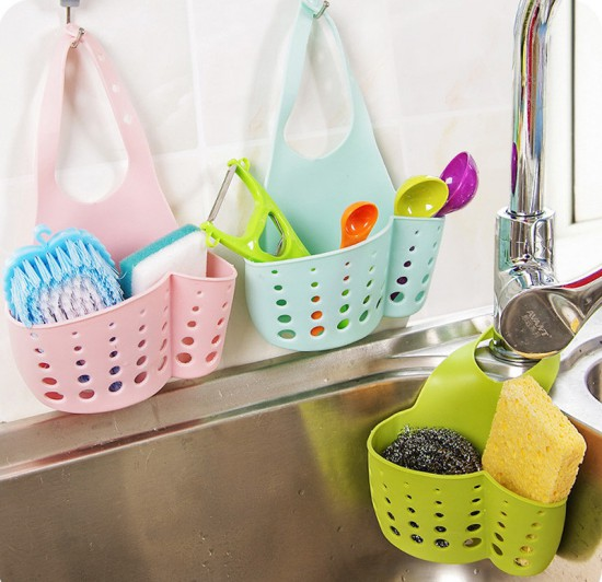 sponge storage rack basket wash cloth soap shelf organizer kitchen gadgets accessories supplies products