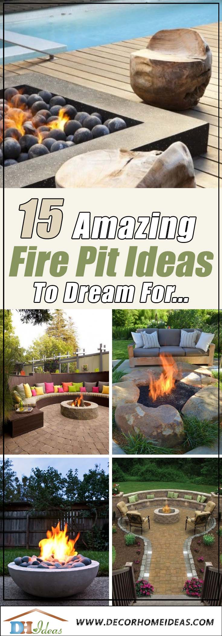 15 Amazing Fire Pits To Dream For | Get some inspiration on fire pits and create your own. #firepit #exterior #patio #cozy #decor #garden #backyard #fire #design #decorhomeideas