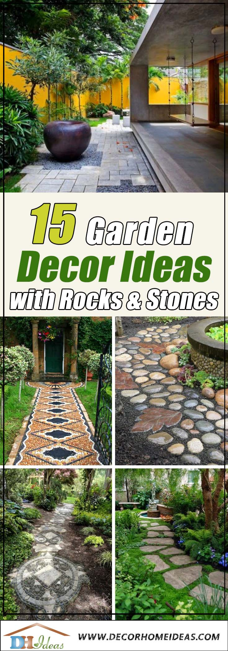 12 Garden Decorating Ideas With Rocks And Stones  Decor Home Ideas