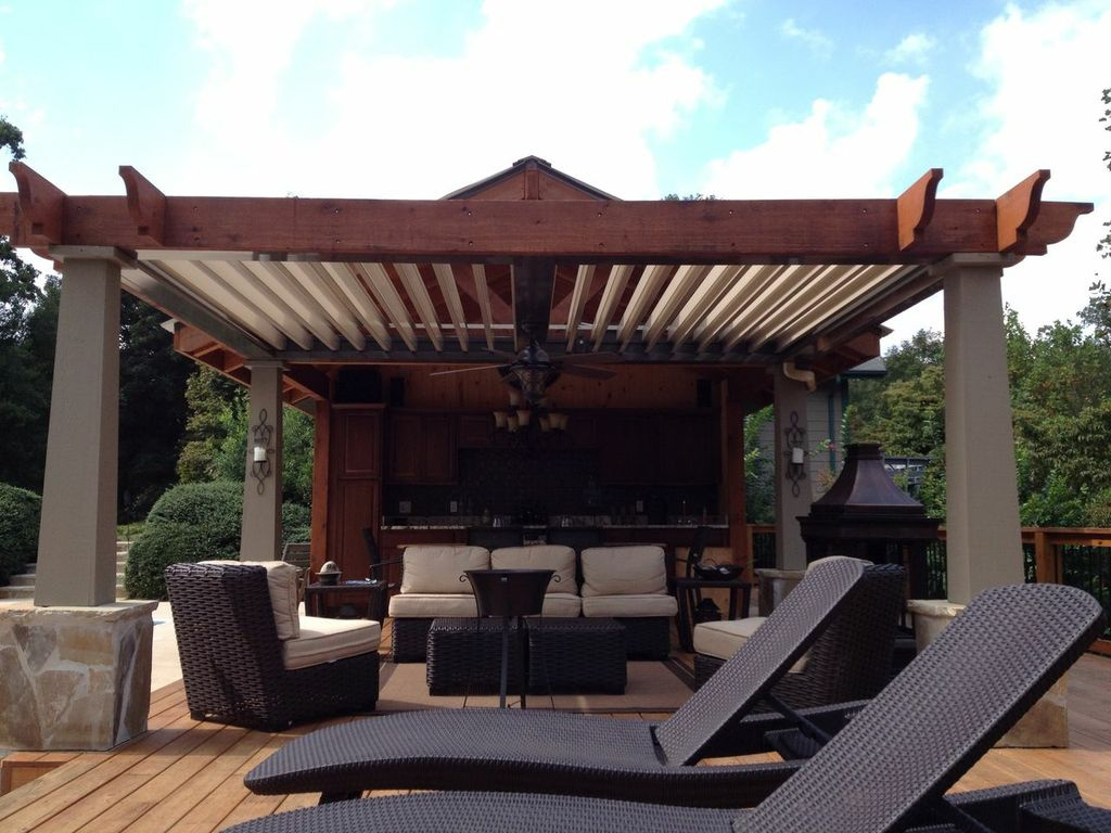 Patio or outdoor bar with a fire pit