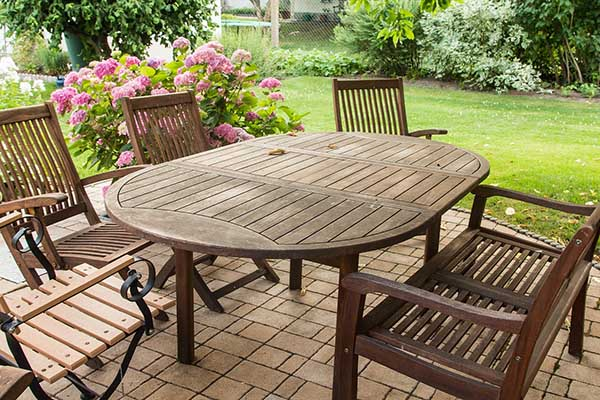 Outdoor dining area furniture