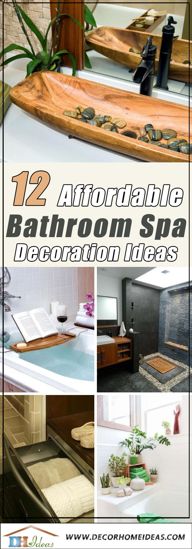 12 Affordable Decorating Ideas for Bathroom Spa | Make your own spa decoration at home with these ideas. #spadecor #bathroom #homespa #spahome #relaxhome #spa #homedecor #decoratingideas #spadesign #decorhomeideas
