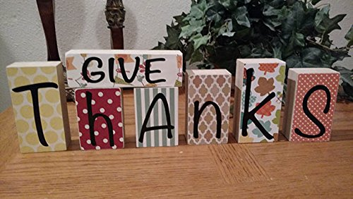 """Give Thanks"" letters #thanksgiving #falldecor #falldecorideas #festive #homedecor #decoratingideas #pumpkin #fall #decorhomeideas"
