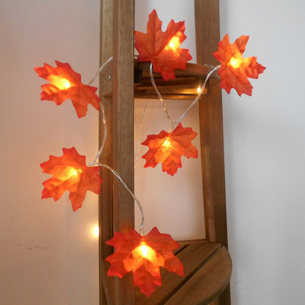 Thanksgiving garland with lamps