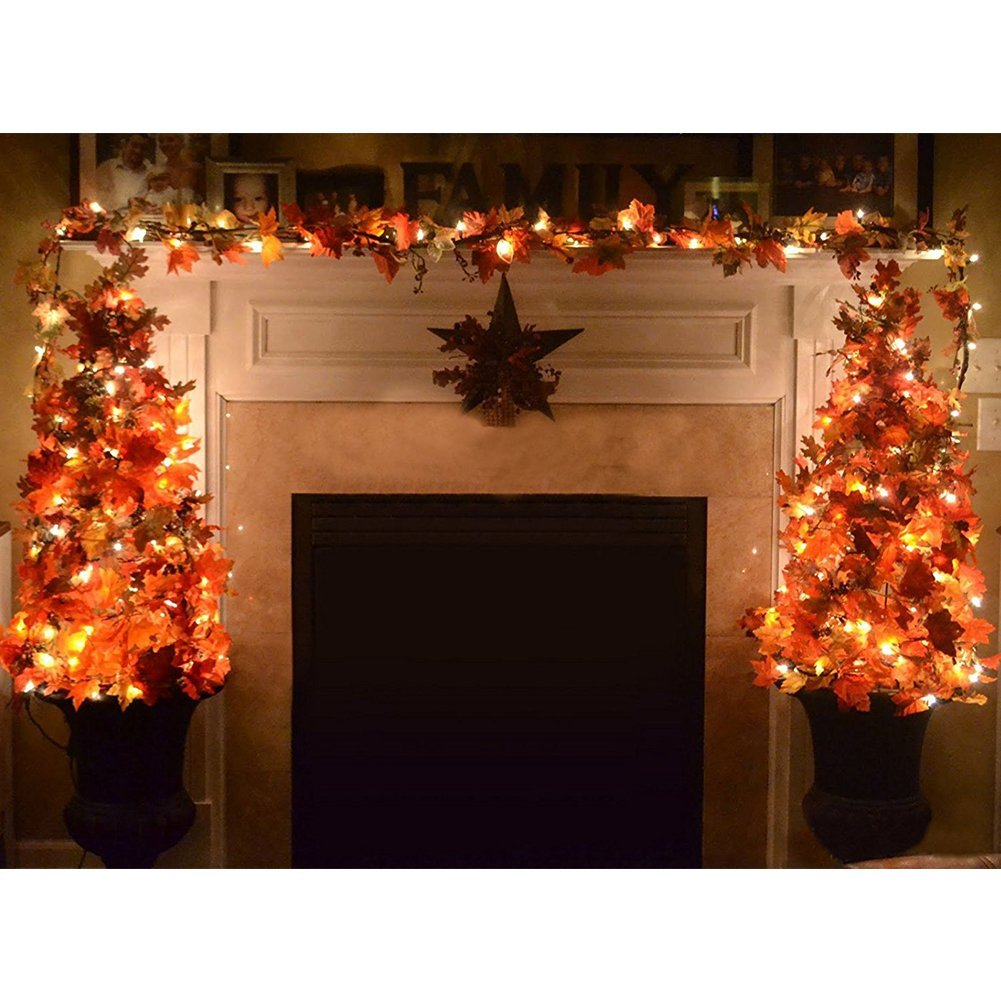Mantel Thanksgiving decor