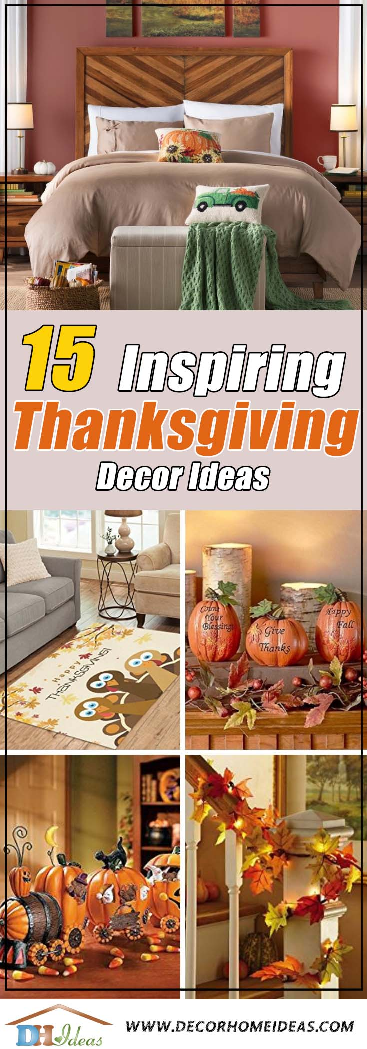 15 Inspiring Ideas For Thanksgiving Decor and Wonderful Dreams | Decoration tips and ideas on thanksgiving. #thanksgiving #decor #pumpkin #fall #inspiration #decoration #decorhomeideas