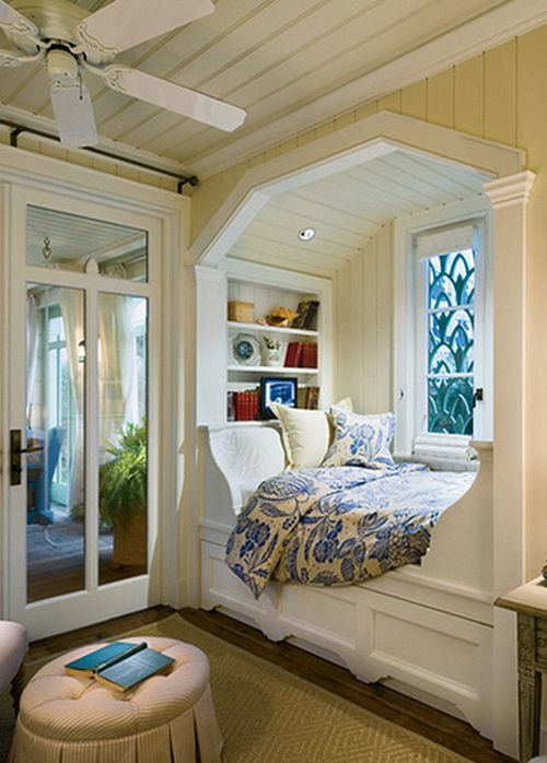 Cozy reading nook by the window