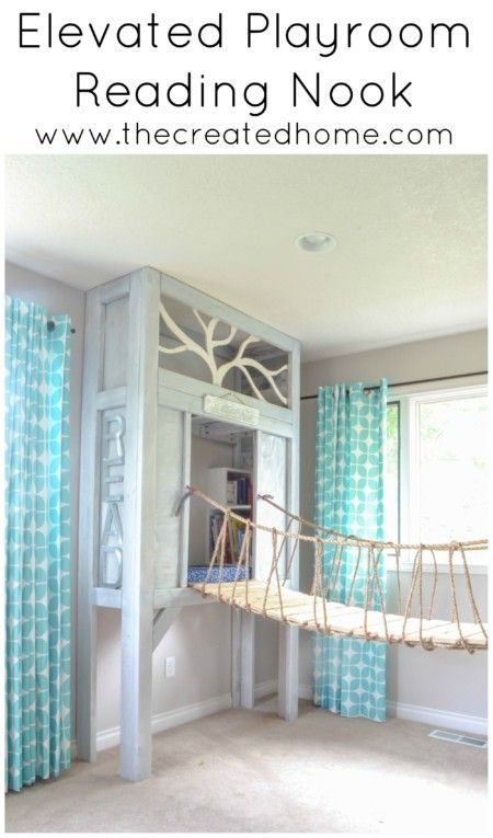 How to build an elevated reading nook for your kids to go along with the cabin playhouse. Or not. Either way your kids will love this space!