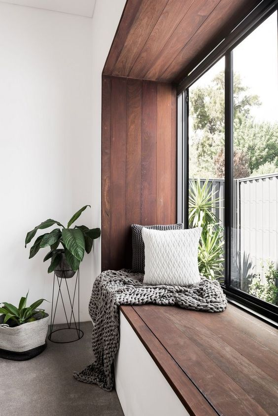 Modern design of reading nook with window