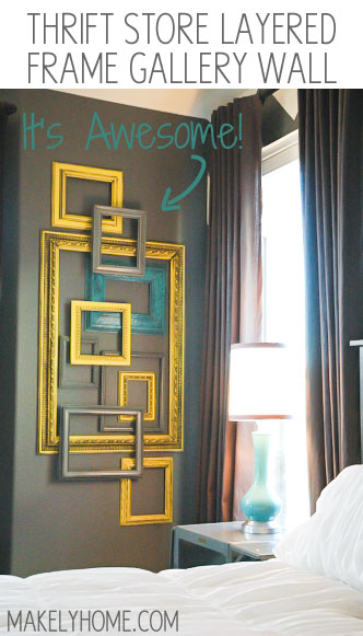 How to Create a Layered Frame Gallery Wall Title #diyproject #diy #makeover #homedecor #decorationideas #pictures #frames #vintage #decorhomeideas