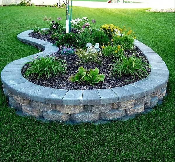 Raised Block Flower and Plant Bed #flowerbed #gardens #decorhomeideas