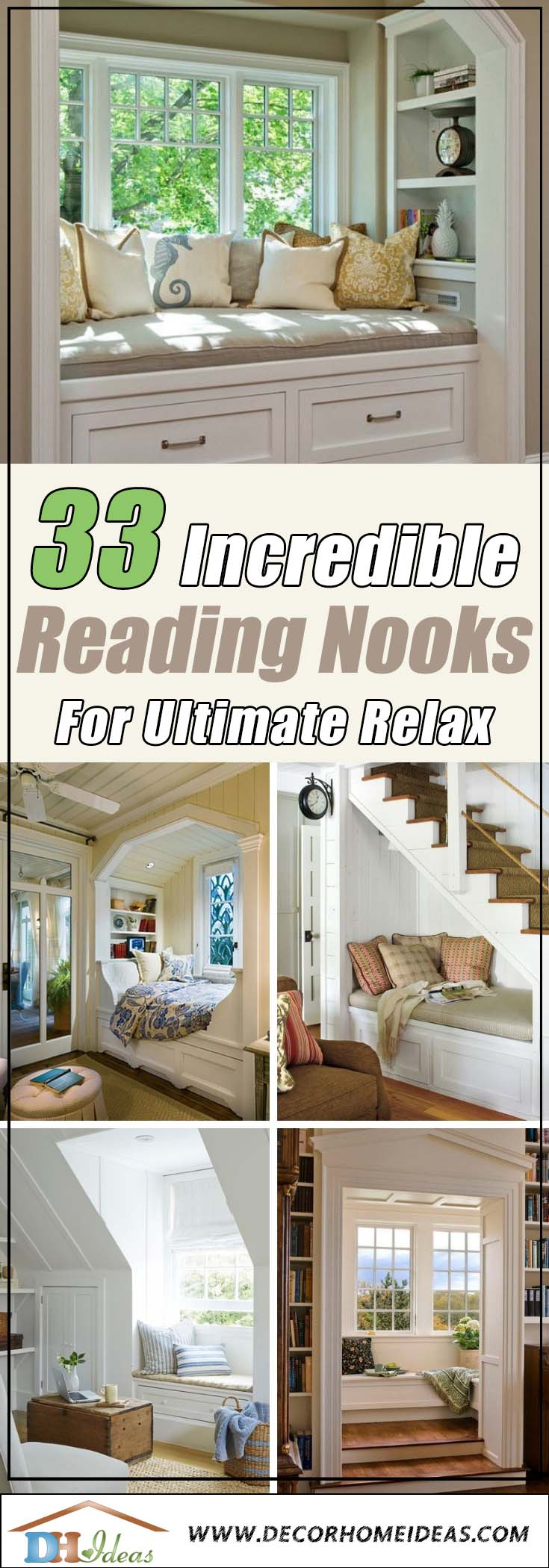 33 Lovely Reading Nooks for Ultimate Relaxation and Tranquility | Fabulous reading nook ideas and designs. Reading corners and tiny relaxation place at home #readingnook #nook #readingcorner #decoratingideas #homedecor #cozynook #decorhomeideas