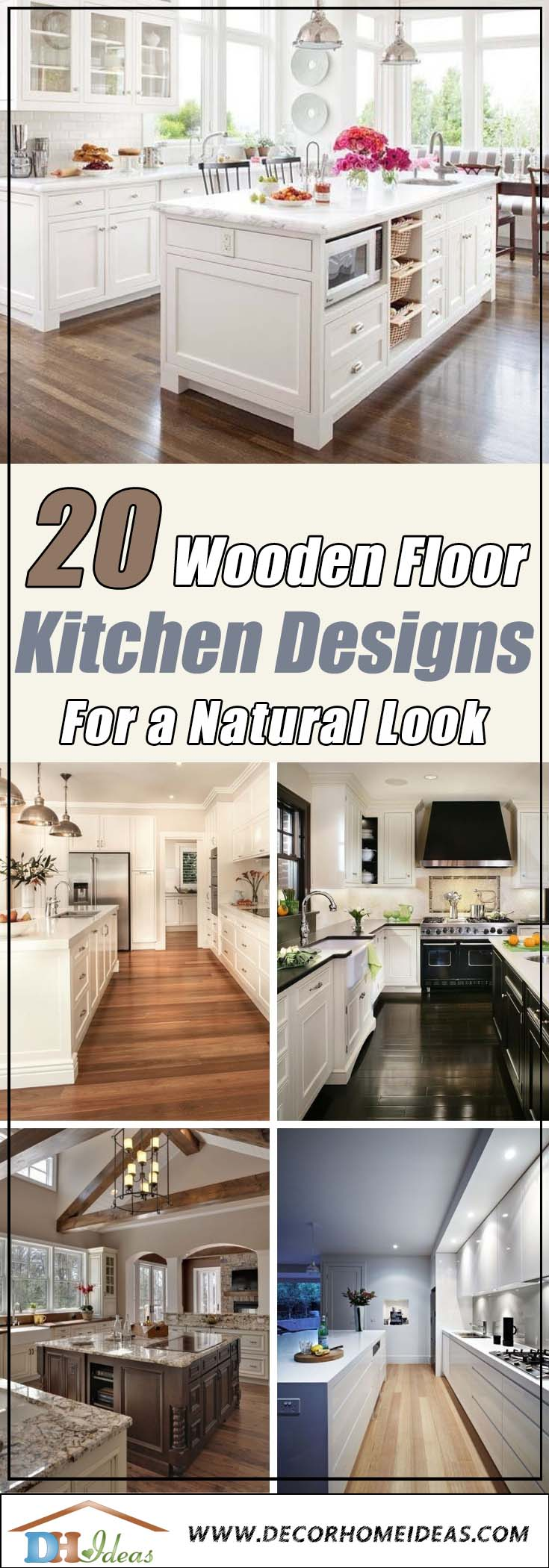 20 Wooden Floor Kitchen Desings Natural Look | Great ideas about wooden kitchen floors, materials and colors #kitchen #kitchendesign #floor #wooden #decoratingideas #homedecor #interiordecorating #decorhomeideas