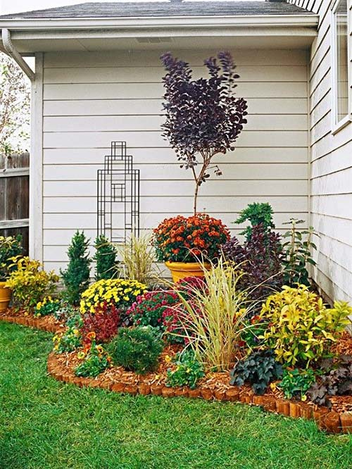 Flower bed ideas for around your house #flowerbed #gardens #decorhomeideas