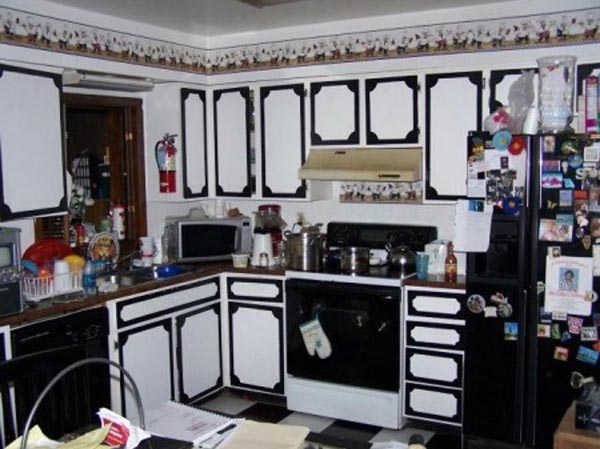 Ugliest kitchen design in black and white
