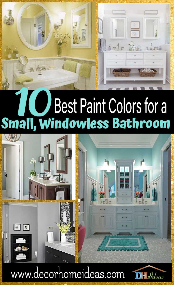 10 Best Paint Colors For Small Windowless Bathroom Paints Trends And