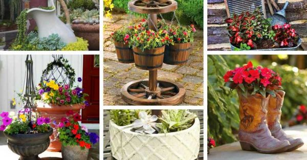 Decor Home Ideas & 41 Beautiful Flower Pot Ideas To Make You Want Them Today