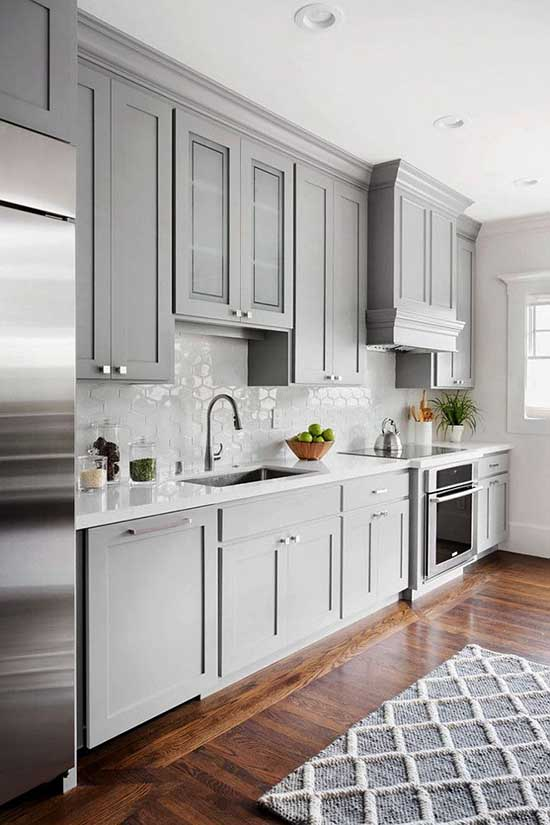 Graystone kitchen cabinets #kitchen #graycabinets #graypaint #graykitchencabinets #homedecor #decoratingideas #decorhomeideas