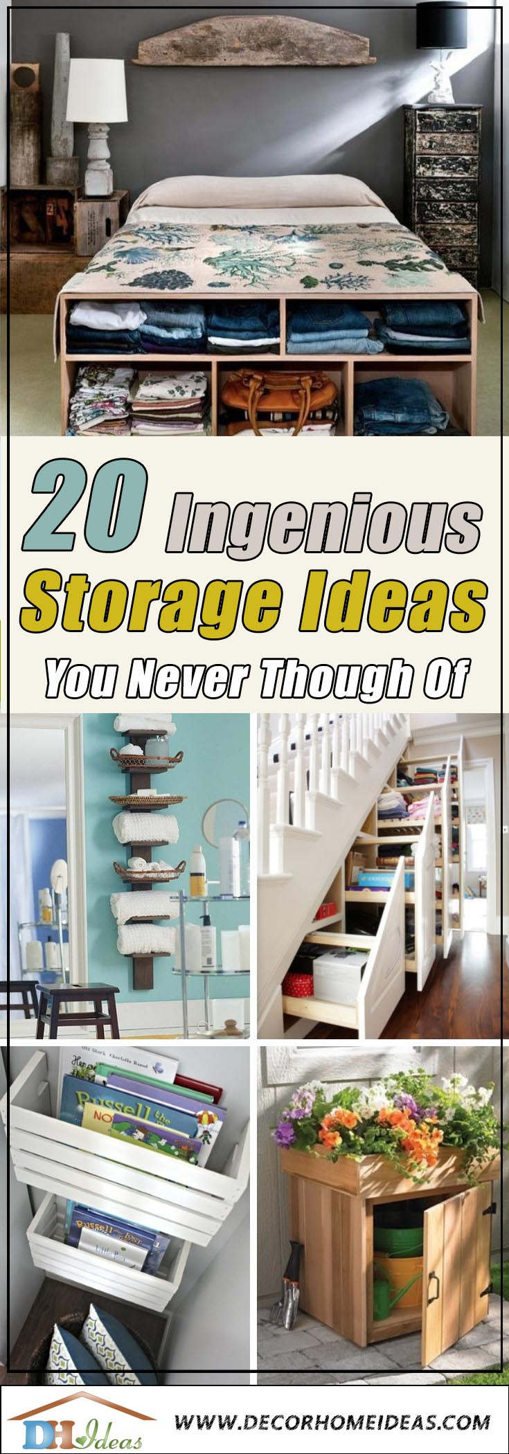 20 Ingenious Storage Ideas That You Never Thought Of #storage #organization #homedecor #ideas #decorhomeideas